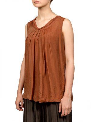 Блуза Made in Italy коричневая