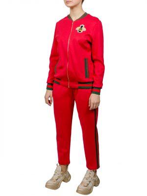 Костюм Angel Boutique couture красный с вышивкой на спине