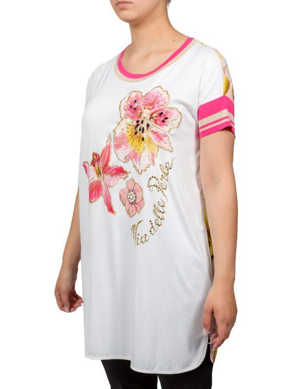 Туника VDP белая с цветами