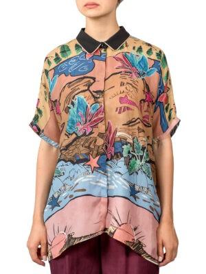 Рубашка Beatrice с морским принтом
