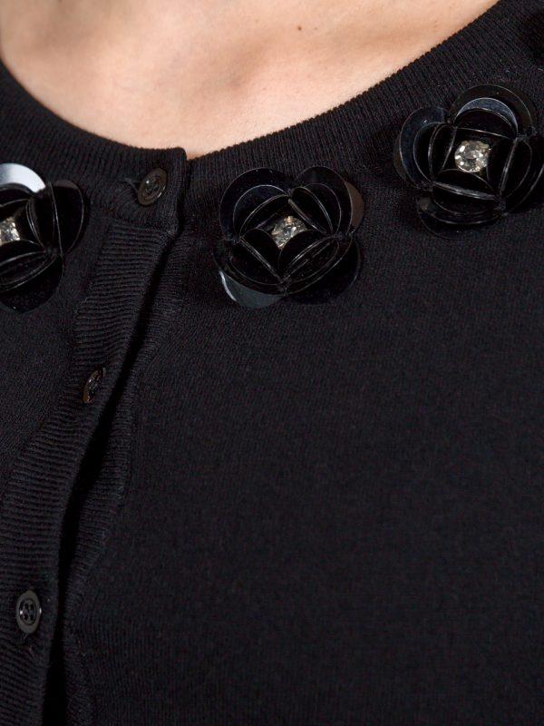 Кофта Boutique Moschino черная с цветами