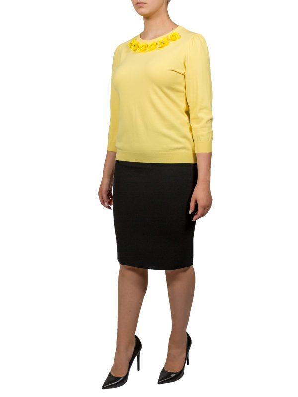 Кофта Boutique Moschino желтая с цветами