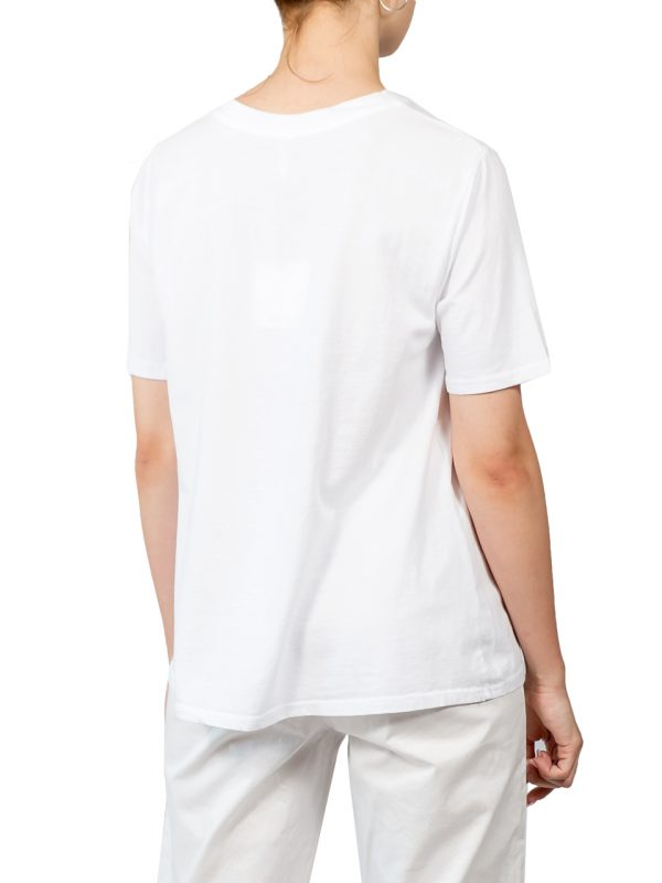 Футболка Lumina белая с карманом