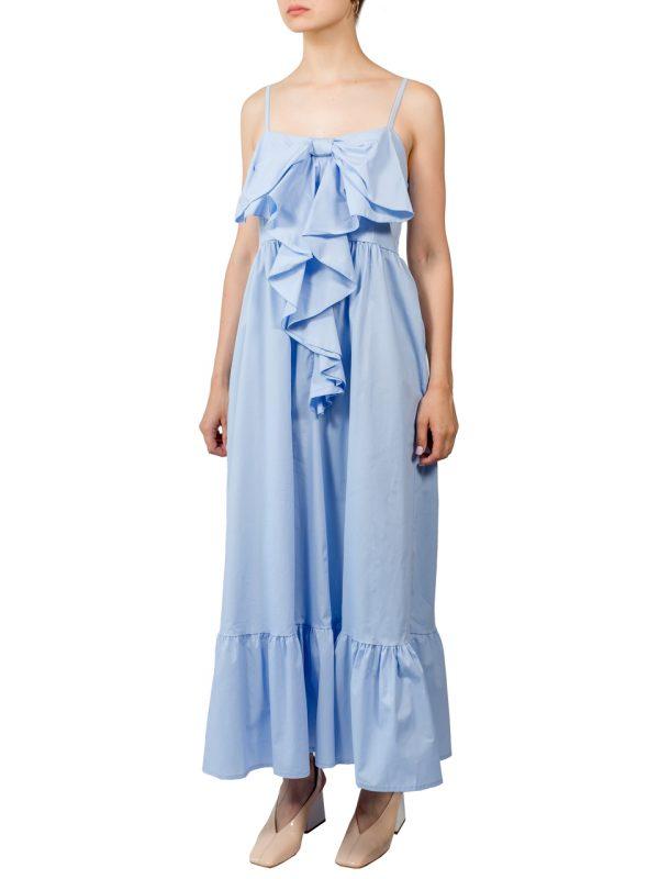 Платье Lumina голубое с бантом