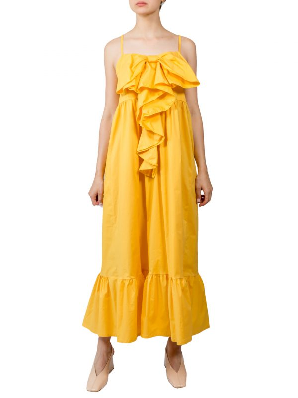 Платье Lumina желтое с бантом