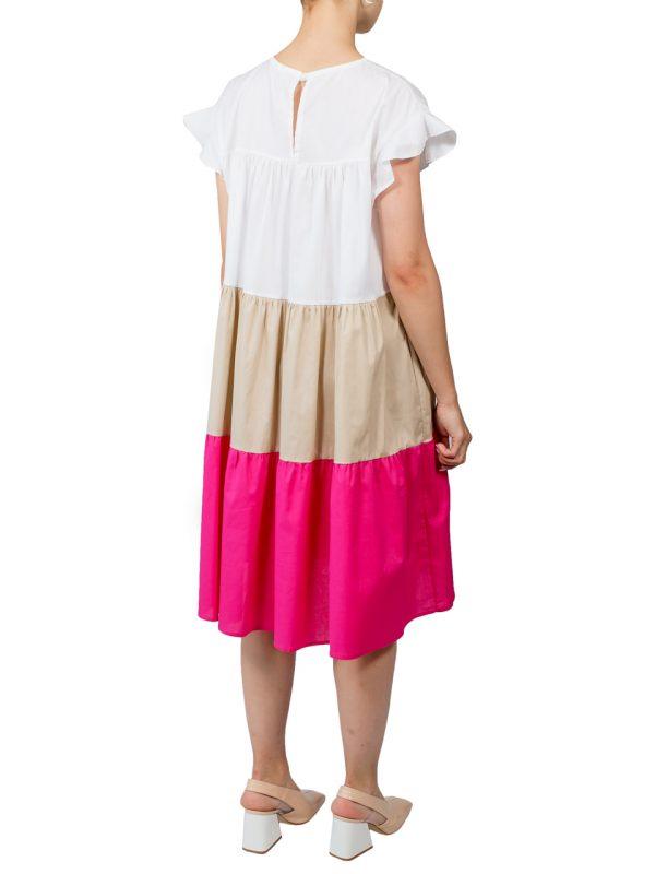 Платье Lumina свободного кроя с розовой вставкой