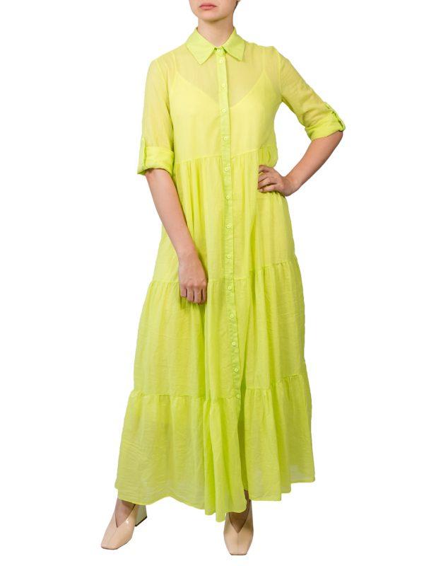 Платье-халат Imperial лимонное