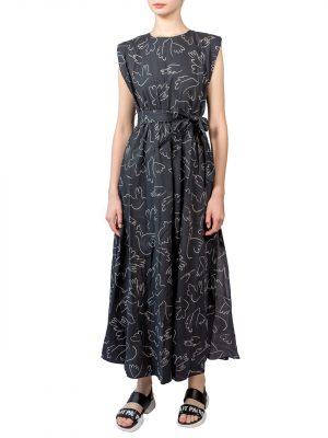 Платье Lumina черное с подплечниками