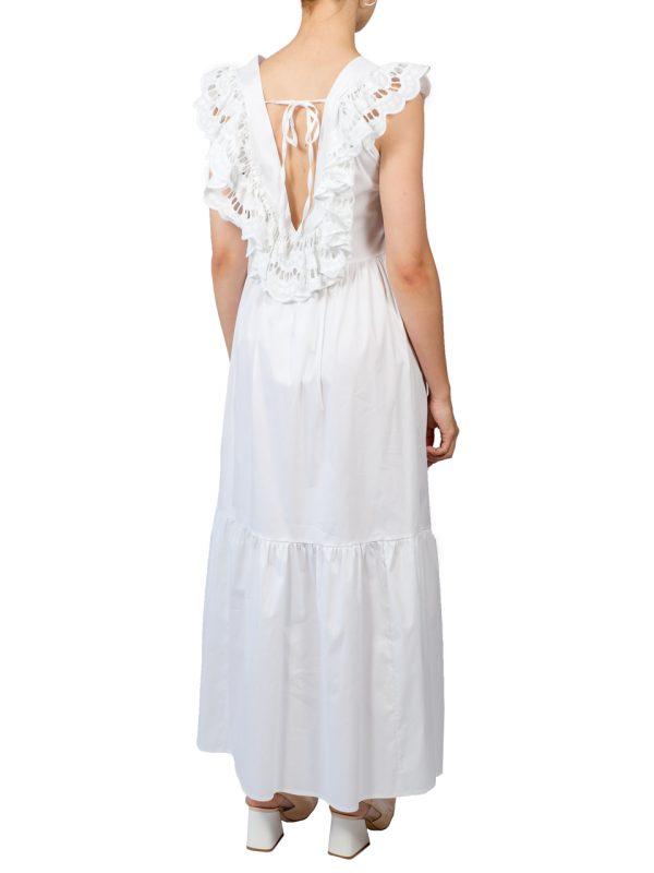 Платье Imperial белое с рюшами