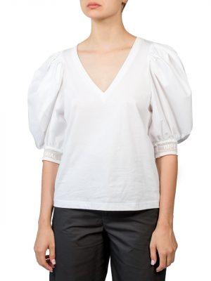 Блуза Imperial белая с объемными рукавами