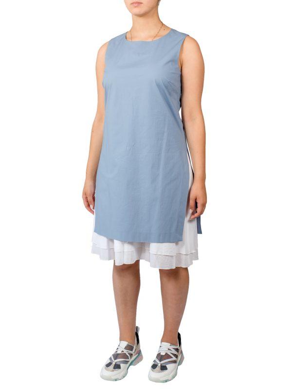 Платье Peserico голубое с белым низом
