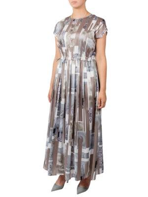 Платье Peserico шелковое с рисунком