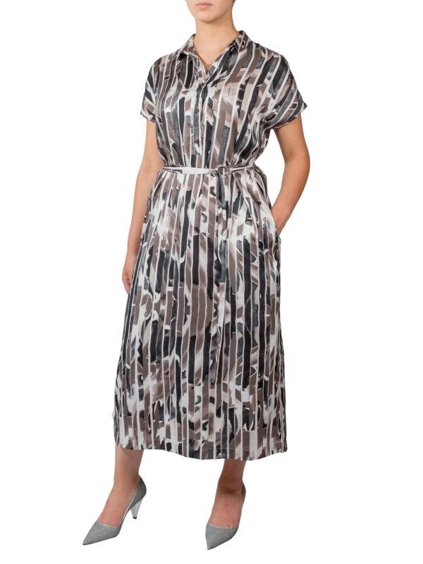 Платье Peserico шелковое с воротником