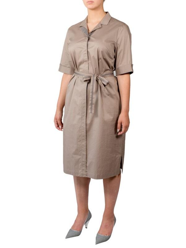 Платье Peserico бежевое с поясом