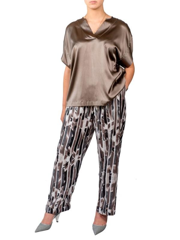 Костюм Peserico в пижамном стиле из шелка
