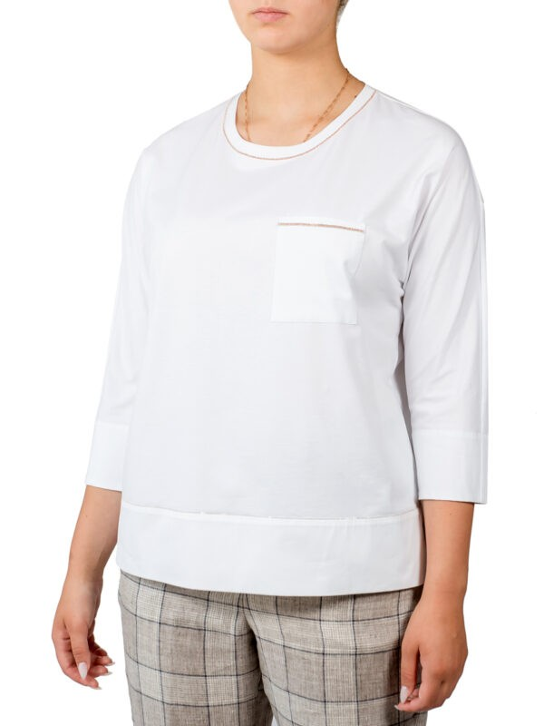 Кофта Peserico белая с карманом