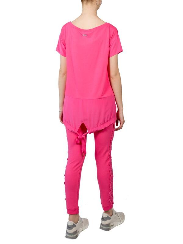 Костюм VDP розовый с кружевом