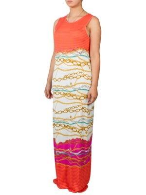 Платье VDP оранжевое в пол