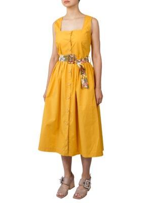 Платье Imperial горчичное