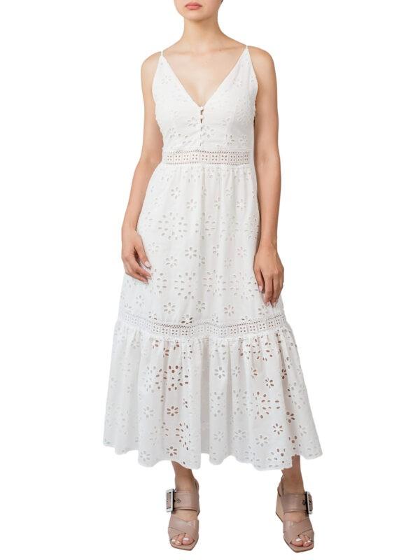 Платье Imperial белое на бретельках