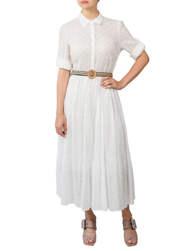 Платье Imperial белое миди