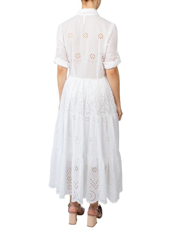 Платье Imperial белое шитье миди