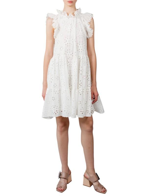 Платье Imperial белое шитье