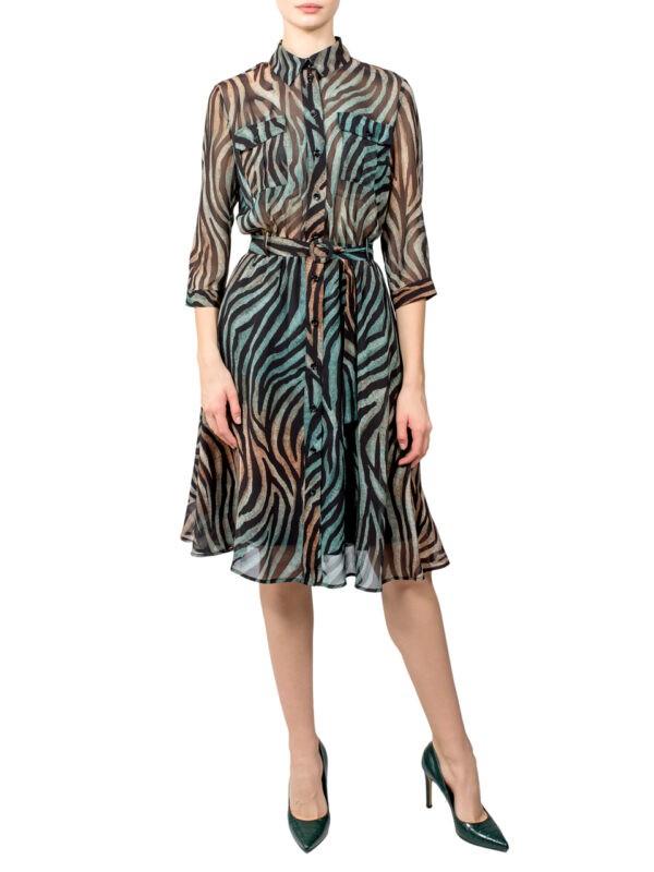 Платье Imperial принт зебра цветная