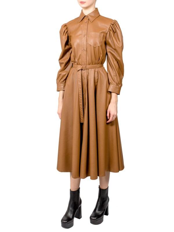 Платье Imperial бежевое экокожа