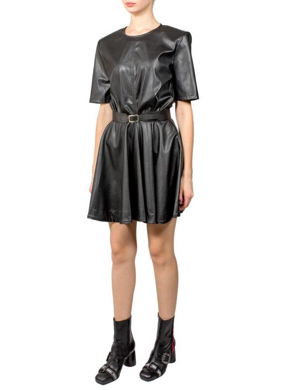 Платье Imperial черное экокожа