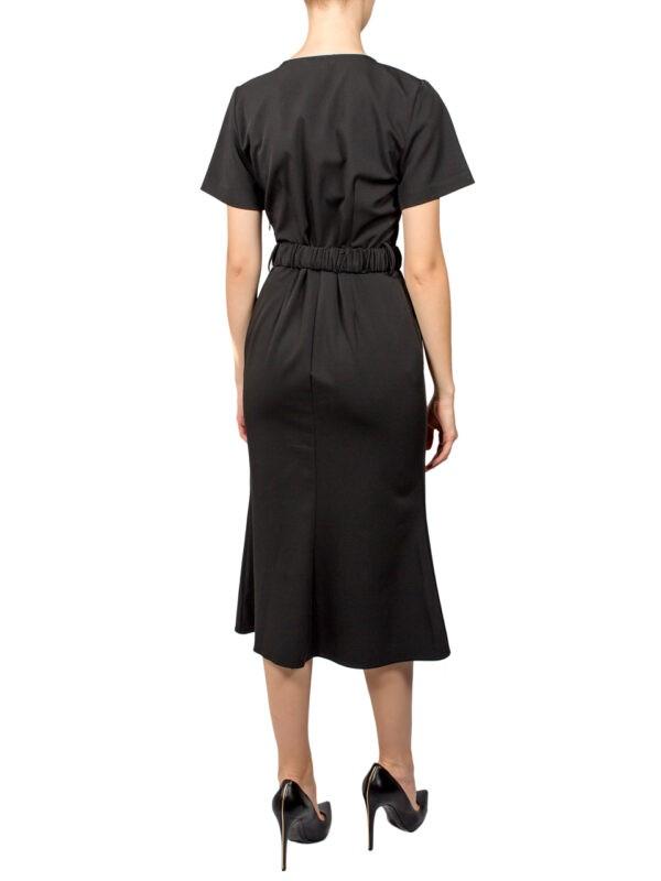 Платье Imperial черное с поясом