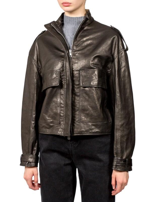 Кожаная куртка Imperial с накладными карманами