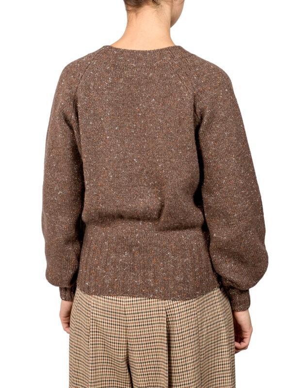 Джемпер Beatrice коричневый с люрексом