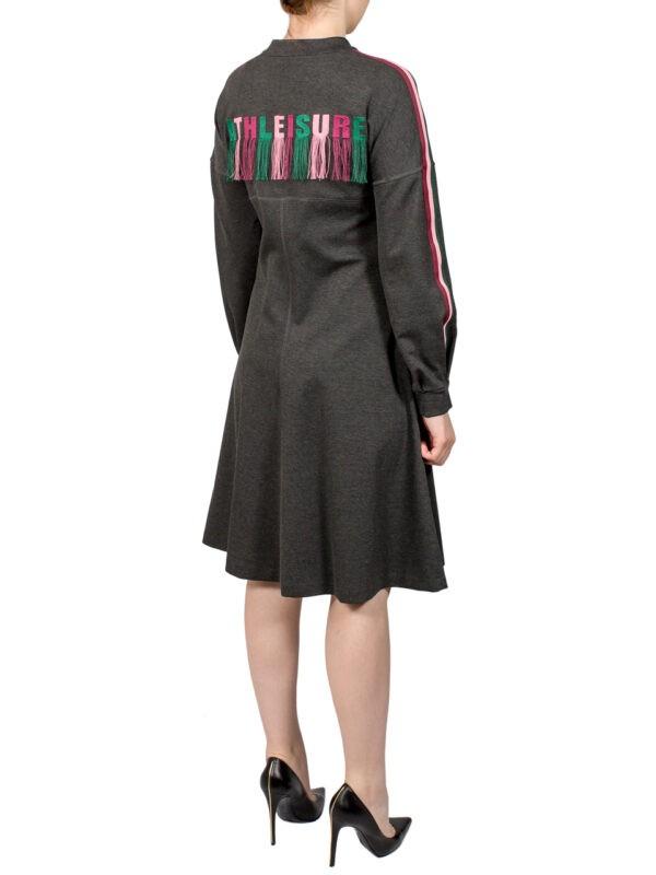 Платье Sfizio серое с вышивкой