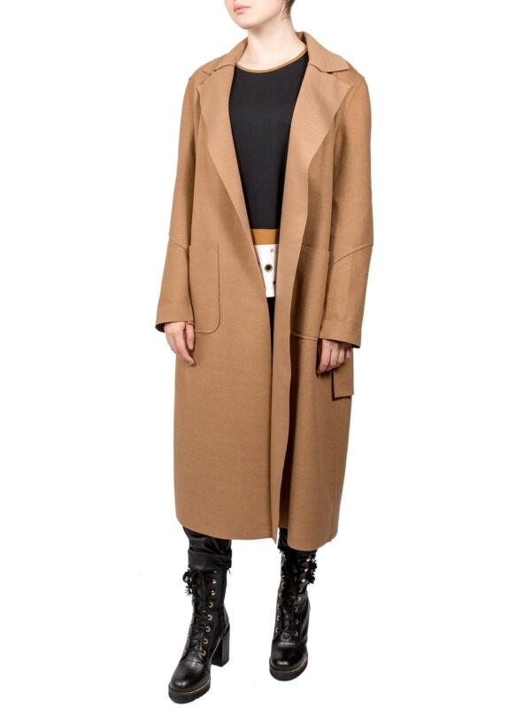 Пальто Paquito бежевое с поясом