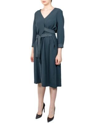 Платье Beatrice темно-зеленое