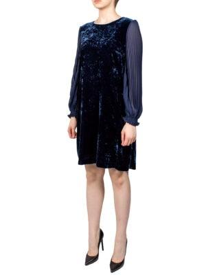 Платье Sfizio велюровое с шифоновыми рукавами
