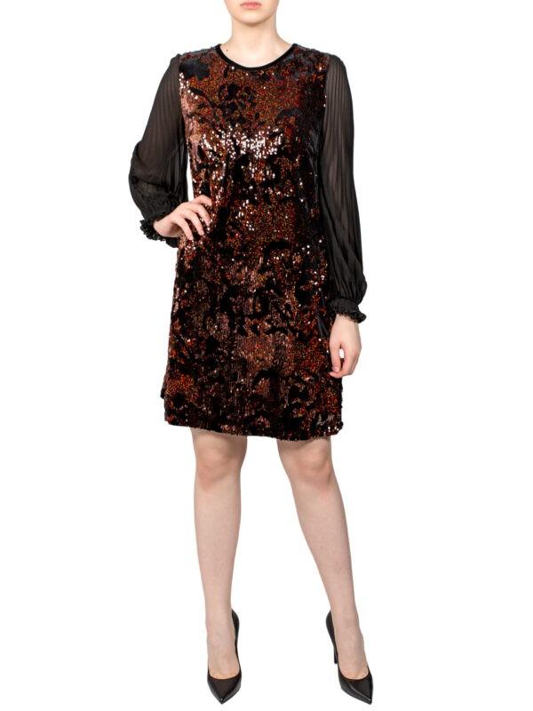Платье Sfizio черное с пайетками 68779