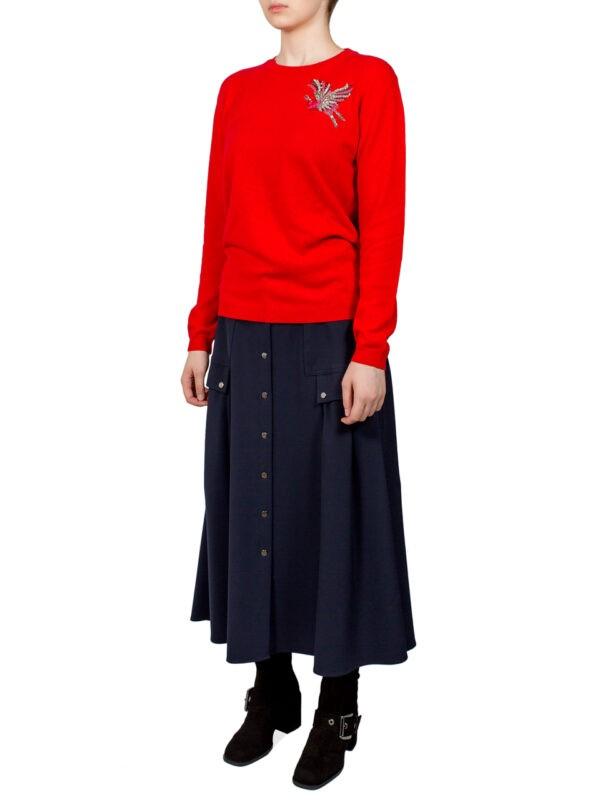 Юбка Beatrice синяя с накладными карманами
