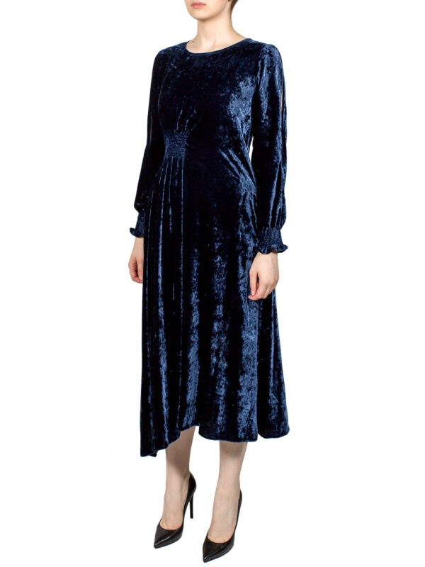 Платье Sfizio синее велюровое