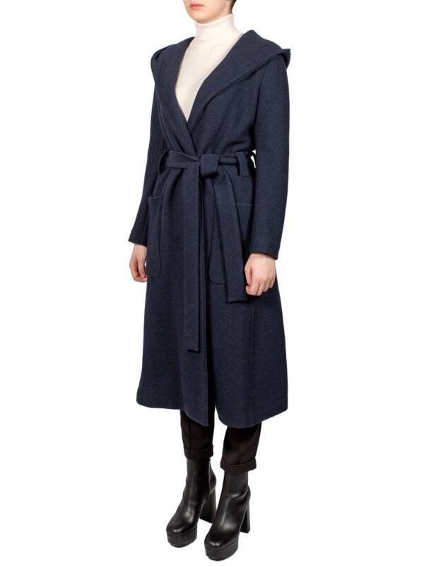 Пальто Beatrice синее с поясом