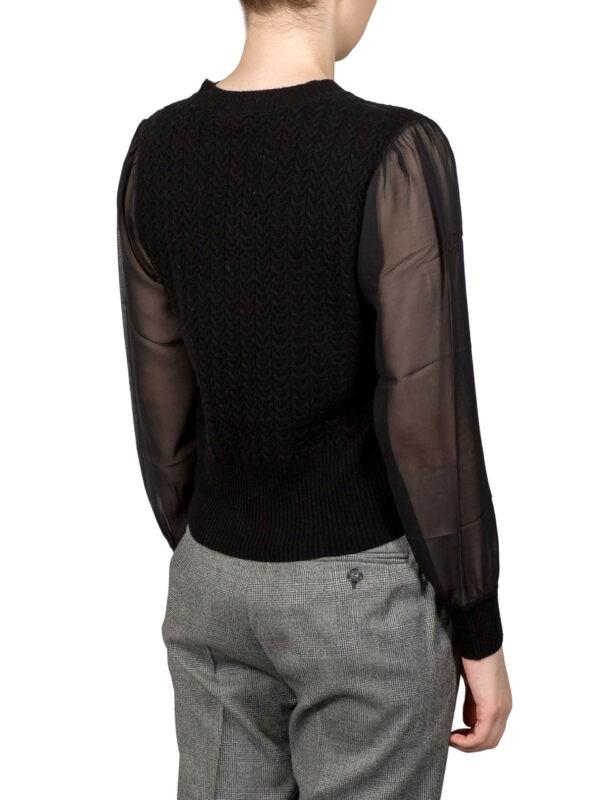 Кофта Max Mara Studio черная с шелковыми рукавами