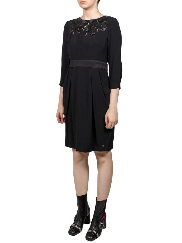 Платье VDP черное с карманами