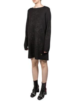 Платье VDP черное с люрексом