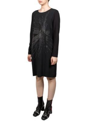 Платье VDP черное стразы россыпью