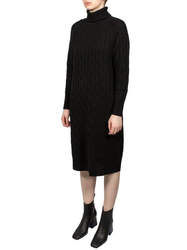 Платье Max Mara Studio черное вязка косичка