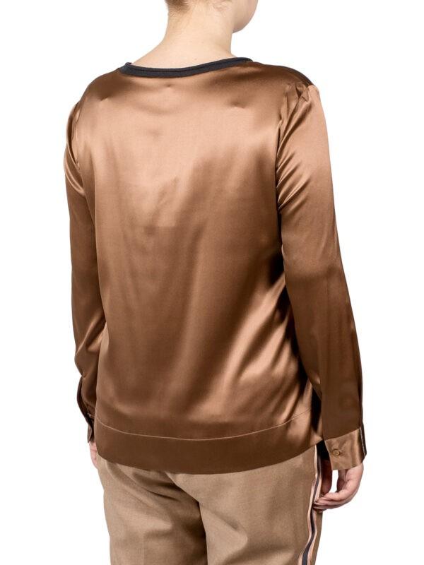 Блуза Peserico бронзового цвета с серебряной нитью