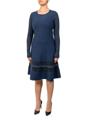 Платье D. Exterior синее расклешенное к низу