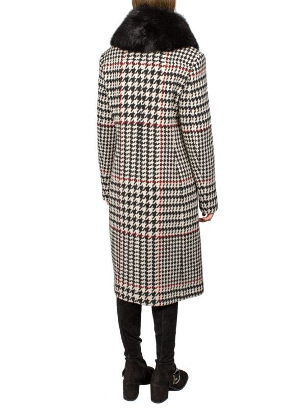 Пальто VDP в гусиную лапку со съемным воротником