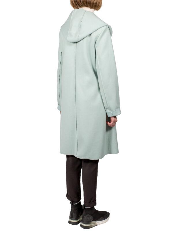 Пальто Paquito ментолового цвета с капюшоном